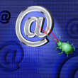 Постер, плакат: A spy virus breaks up e mail