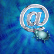 A spy virus breaks up e-mail — Stock Photo