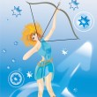 Sagittarius(sign of zodiac) — Stock Photo