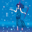 Girl-astrologer - Foto Stock