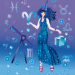 Stock Photo: Girl-astrologer