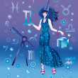 Girl-astrologer — Stock Photo