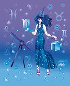 Dziewczyna z znak zodiaku Skorpion — Zdjęcie stockowe