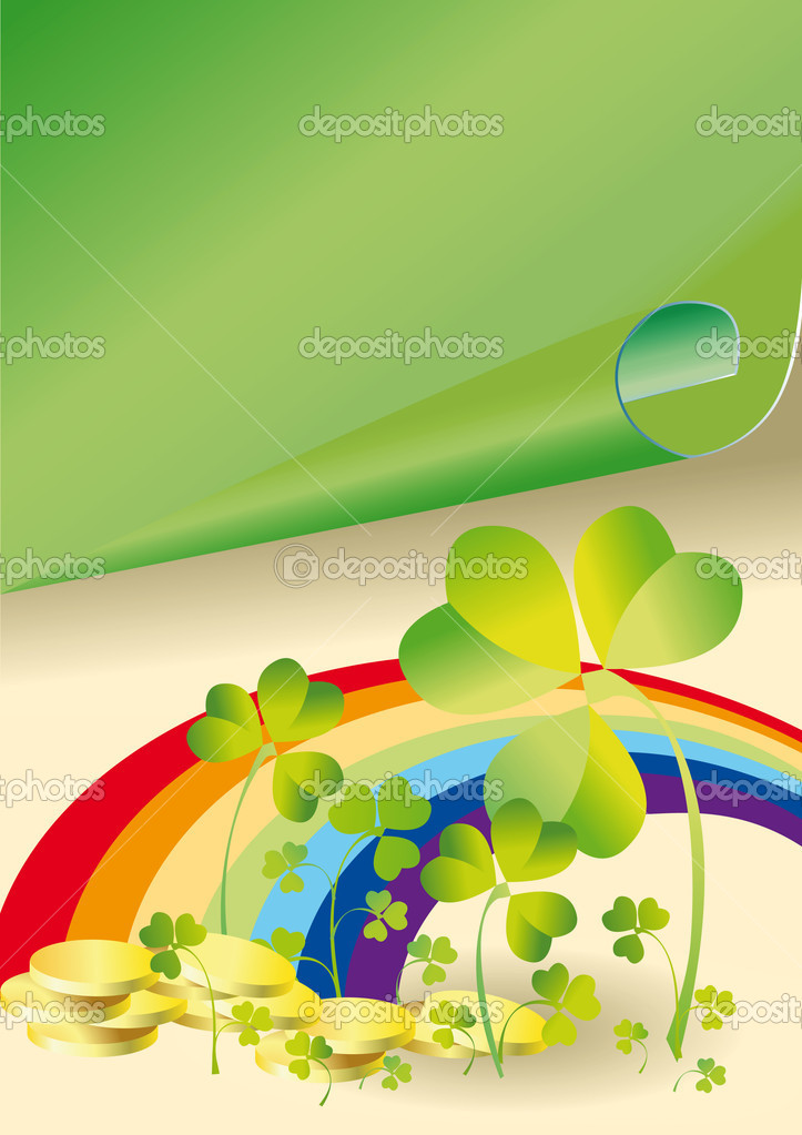 Background to the holiday st patrick's day with the leaves of clover — Stock Photo #2164137