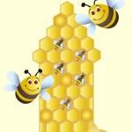 Happy bees — Stock Photo