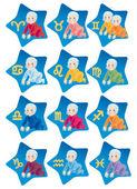 Horoskop na znaki zodiaku — Zdjęcie stockowe