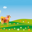 A cow admires in spring — Stock Photo