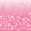 Background with hearts bubbles champagne — Stock Photo #2429154