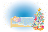 Sleep on Christmas — Stock Photo