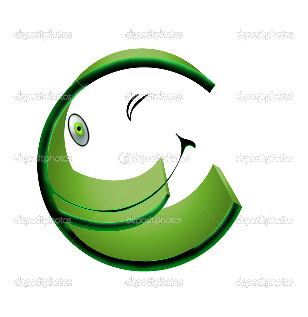 Symbol of euro smiles on a white background — Stock Photo #2424222