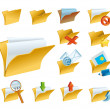 A set of the folder icons — Stock Photo