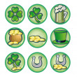 Stock Photo: St. Patrick's Day icons