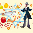 Rosh A-Shanor Holiday of Jewish — Stock Photo #2431211