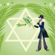Jewish holiday of Sukkot Holiday — Stock Photo #2431341