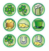 St. Patrick's Day icons — Stock Photo