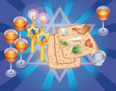 Sacral meal on Pesakh ( Passover) — Stock Photo