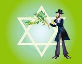Jewish holiday of Sukkoth Festival — Stock Photo