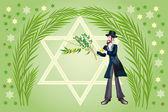 Jewish holiday of Sukkot Holiday — Stock Photo