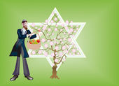 New Year of trees, Seder That bi-Shvat. — Stock Photo