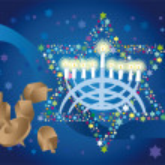 Glad background to the Jewish holiday — Stock Photo