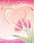 Background to St. Valentine's Day — Stock Photo