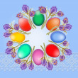Stock Photo: Easter background from eggs
