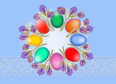 Easter background from eggs — Stock Photo
