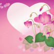 Spring background with cyclamens - Stock Photo