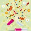Natural vitamins are in a pill — Stock Photo
