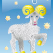 Aries(sign of zodiac) — Stock Photo