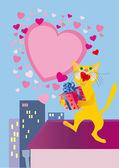 Passionate aria of in love cat — Stock Photo