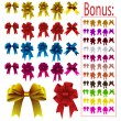 Royalty-Free Stock Векторное изображение: Collection of colored bows