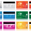 Credit cards - Imagens vectoriais em stock
