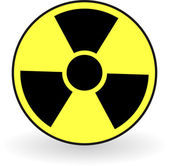 Collection of vector illustrations of radiation — Stock Vector