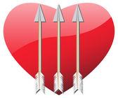 Heart with arrows — Stock Vector