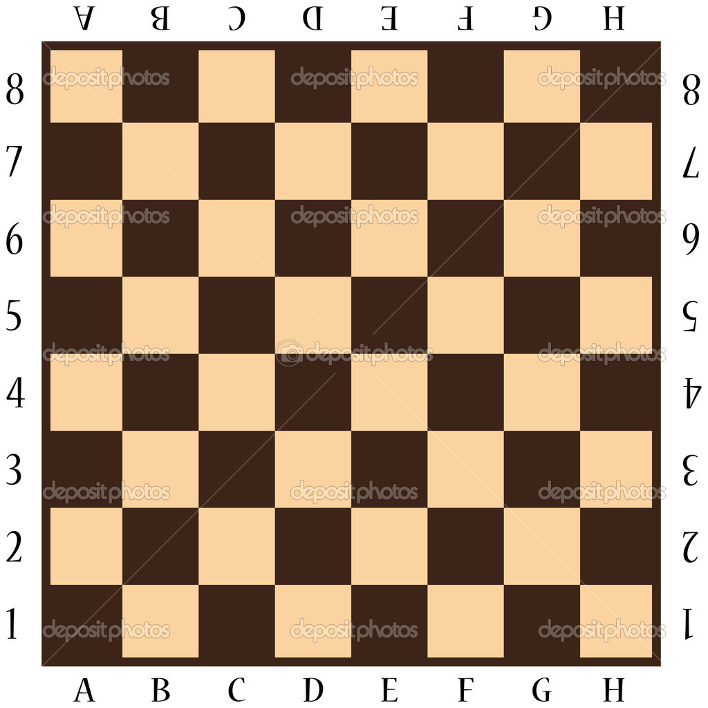 Resultado de imagen de tablero de ajedrez con letras y numeros