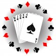 Playing cards - Image vectorielle