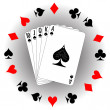 Playing cards — Stock Vector