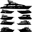 Motor yacht - Stock Vector