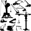 Royalty-Free Stock Vector Image: Construction crane