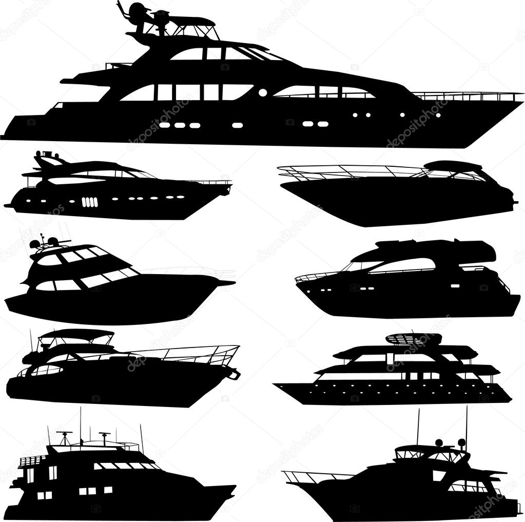 Motor yacht - vector  Stock Vector #2176273
