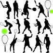 Royalty-Free Stock Vector Image: Tennis players
