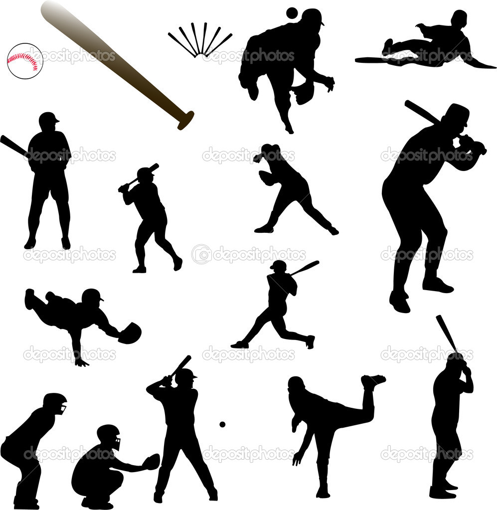 Baseball collection - vector — Stock Vector #2264007