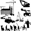 Construction objects — Stock Vector