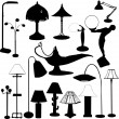 Stock Vector: Lamps