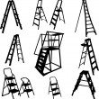 Ladders — Stock Vector #2333779