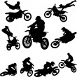 Motor cross - Stock Vector