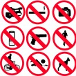 Stock Vector: Prohibit sign