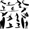 Royalty-Free Stock Vector Image: Surfers