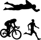Triathlon — Stock Vector